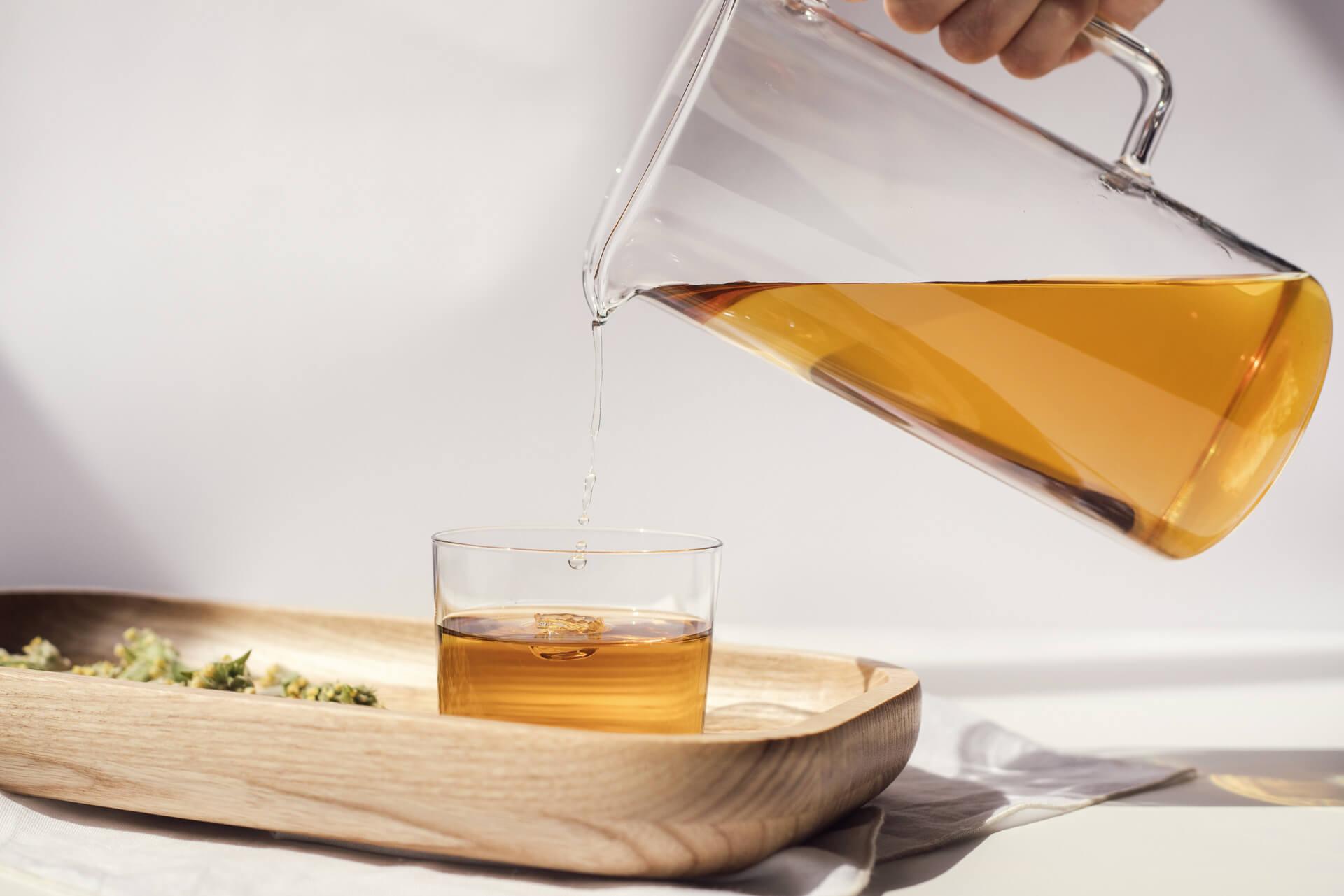 organic tea herbal blend drink no caffeine