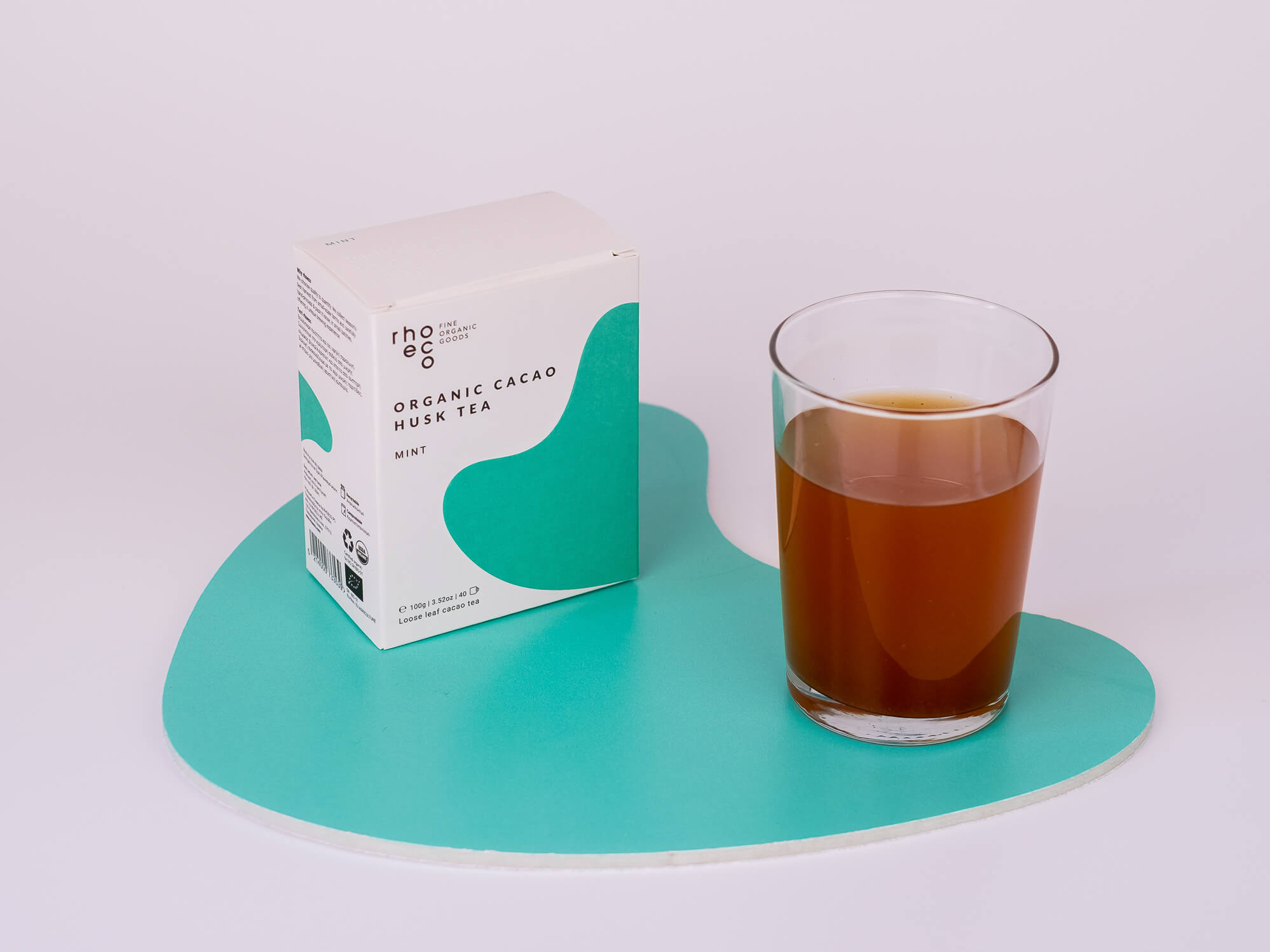 organic cacao husk tea cold brew