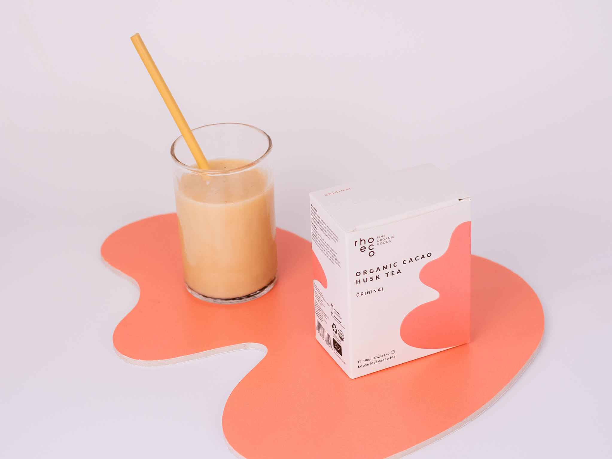 organic cacao husk tea latte