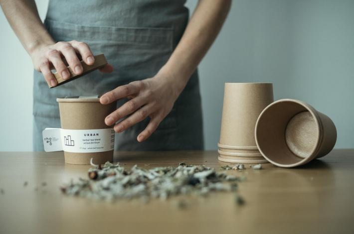 artisanal handpacked herbal tea process