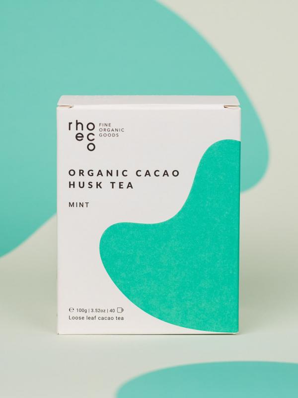 rhoeco cacao husk tea mint