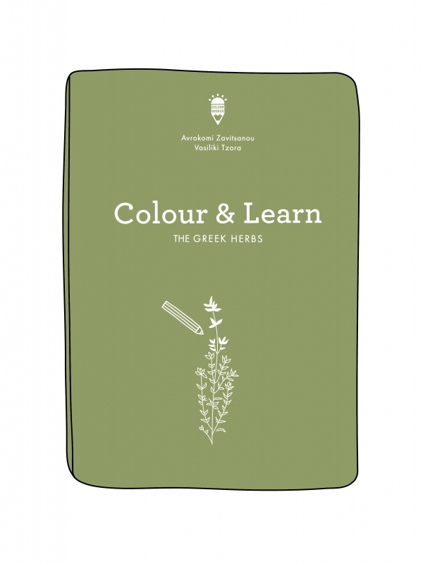 rhoeco colour and learn the greek herbs
