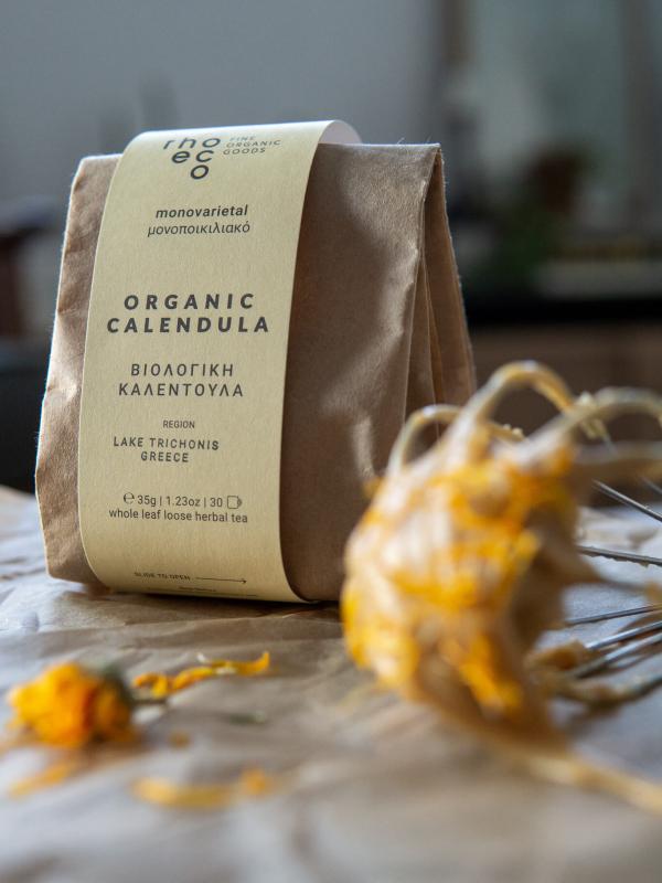 organic calendula flowers rhoeco marigold