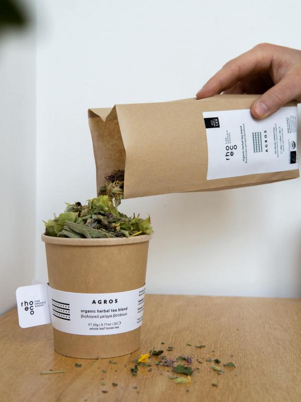 herbal tea whole leaf loose herbs greek rhoeco eco refill
