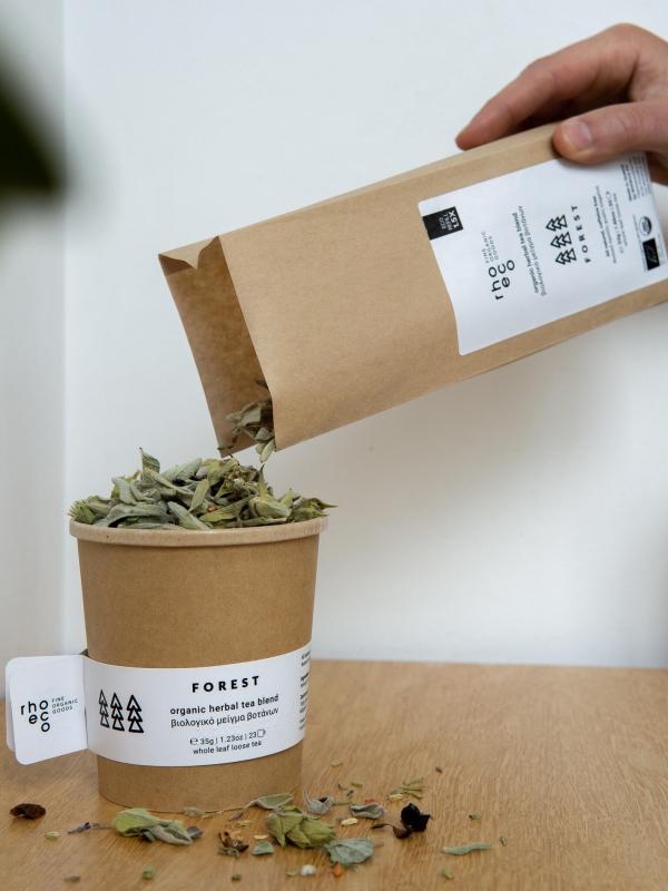 organic herbal blend mix refill pack loose leaf herbs rhoeco