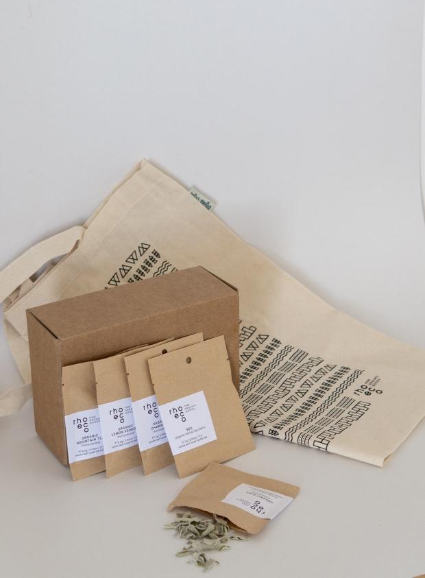 rhoeco single sachets tote bag