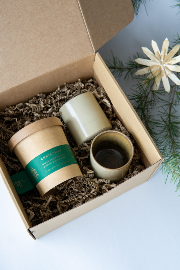 rhoeco herbal tea ceramic cups christmas