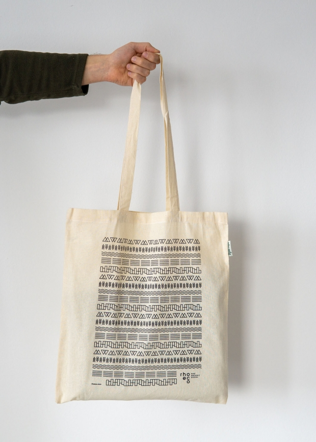 rhoeco organic cotton tote bag