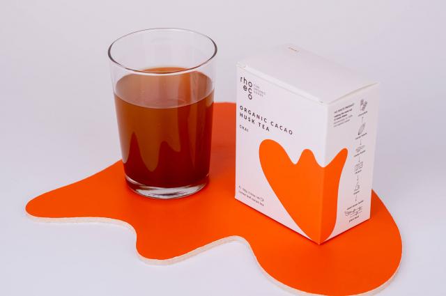 organic cacao husk tea chai cold brew