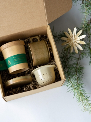 rhoeco herbal tea set christmas ceramic