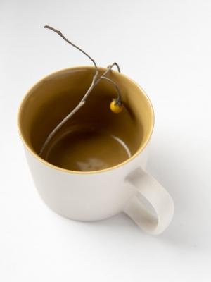rhoeco kinta teacup light grey mustard