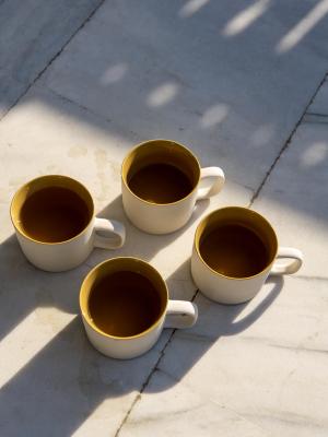 rhoeco kinta teapot light grey mustard