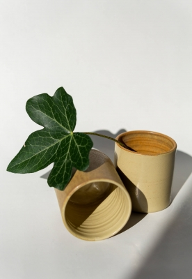 rhoeco stoneware handleless cups [set of 2]