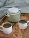 rhoeco kinta teapot teacups celadon